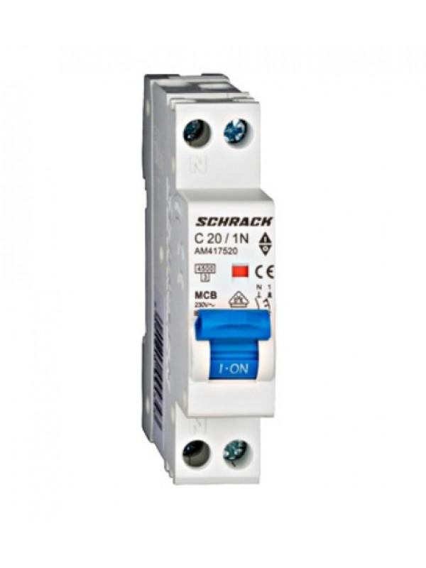 Siguranta automata 1P+N 20A 1 modul Schrack-Amparo