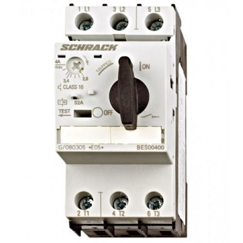 Întreruptor protectii motoare 3p 4,50-6,30A, Schrack cod BES00630