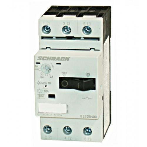 Întreruptor protecţii motoare 3p, 2,8-4A, Schrack cod BESD0400