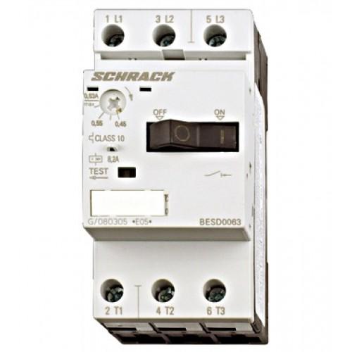 Întreruptor protectii motoare 3p 3,50-5,00A, Schrack cod BESD0500
