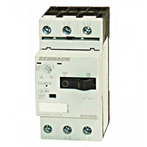 Întreruptor protectii motoare 3p 4,50-6,30A, Schrack cod BESD0630