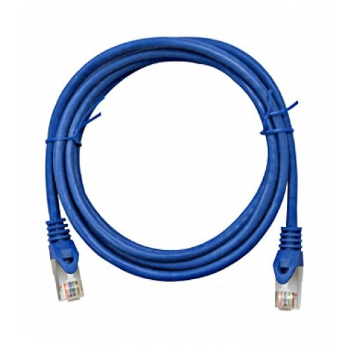 Cablu UTP Patch cord Cat. 5, 10m, albastru, Schrack cod H5GLB10K0B